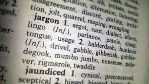 The word jargon and some synonyms