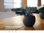 Twenty Seventeen theme by WordPress